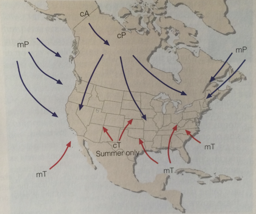 What Is An Air Mass And How Does It Affect Our Weather WNCT - Air masses map of us hot dry cool moist