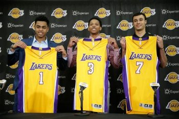 D'Angelo Russell, Anthony Brown, Larry Nance