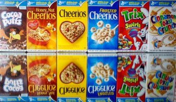 General Mills, Cheerios, Cocoa Puffs, Trix, cereal