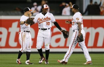 Adam Jones, Delmon Young, David Lough