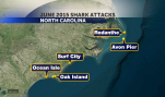 MAP OF SHARK ATTACKS
