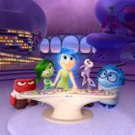 "FILE - In this file image released by Disney-Pixar, characters, from left, Anger, voiced by Lewis Black, Disgust, voiced by Mindy Kaling, Joy, voiced by Amy Poehler, Fear, voiced by Bill Hader, and Sadness, voiced by Phyllis Smith appear in a scene from ""Inside Out."" (Disney-Pixar via AP, File)"