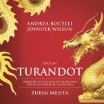 "This CD cover image released by Universal Music Classics/Decca/Sugar shows Andrea Bocelli, Puccini's ""Turandot."" (Universal Music Classics/Decca/Sugar via AP)"