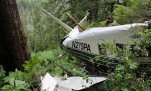 FILE - This photo, posted Sunday, June 28, 2015, on the Twitter page of the National Transportation Safety Board, shows the wreckage of a sightseeing plane that crashed in remote, mountainous terrain about 25 miles from Ketchikan in southeast Alaska on Thursday, June 25. All nine people on board were killed in the crash. A federal accident report released Tuesday, July 7, 2015, says the sightseeing floatplane was equipped with technology to provide better information about the terrain.  (National Transportation Safety Board via AP, File)