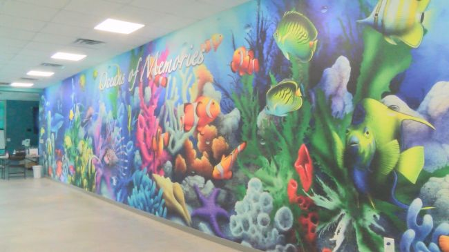 Mural inside the Karen Beasley Sea Turtle Rescue and Rehabilitation Center