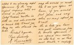 "This undated photo provided by Lion Heart Autographs shows a letter by one of the survivors of the sinking of the Titanic written six months after the disaster, which could fetch $4,000 to $6,000. The letter - saved by a fellow passenger who climbed aboard the so-called ""Money Boat"" before the ocean liner went down - will be sold by Lion Heart Autographs, along with two other previously unknown artifacts from Lifeboat 1 on Sept. 30, 2015. The auction marks the 30th anniversary of the wreckage's discovery at the bottom of the Atlantic Ocean. (Lion Heart Autographs via AP)"