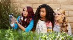 "This photo provided by Netflix shows Ysa Penarejo, Genneya Walton and Victoria Vida in a scene from ""Project Mc2."" The series about four clever schoolgirls recruited to join a spy organization will be released Aug. 7, 2015, on Netflix. (Netflix via AP)"