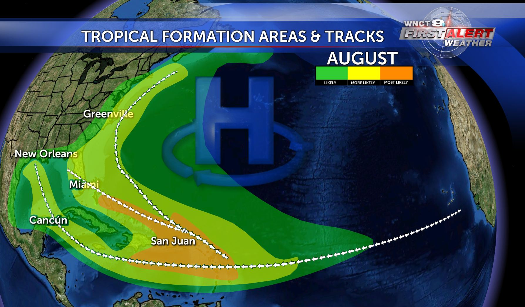 A semi-permanent high is sitting off the coast… | WNCT