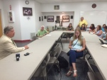 Senator Bill Cook (R-District 1) meets with Beaufort County educators to discuss the state budget.