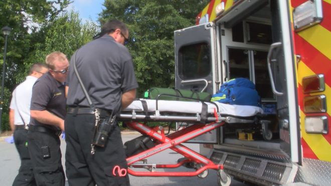 Greenville Fire-Rescue responds to an emergency call.