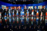 Eleven top-tier Republican presidential hopefuls face off in their second prime-time debate of the 2016 campaign Sept. 16, in a clash between outsiders and establishment candidates under a cathedral of political conservatism. (AP Photo/Andrew Harnik, File)