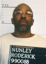 FILE- This April 22, 2014, file photo provided by the Missouri Department of Corrections shows Roderick Nunley. The U.S. Supreme Court on Tuesday, Sept. 1, 2015, said it would not stop the execution of Nunley in Missouri. Nunley who spent nearly 25 years on Missouri's death row was executed Tuesday for the kidnapping, rape and stabbing death of a 15-year-old Kansas City girl. (Missouri Department of Corrections via AP, File)