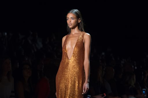 The Prabal Gurung Spring 2016 collection is modeled during Fashion Week on Sunday, Sept. 13, 2015, in New York. (AP Photo/Bryan R. Smith)