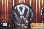 A Volkswagen logo is seen on a freight car at the VW factory in Zwickau, Gemany, Monday, Oct.5, 2015.   (Jan Woitas/dpa via AP)