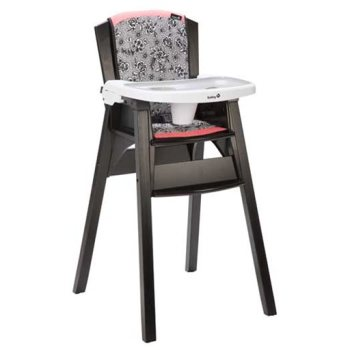 This product image made available by the Consumer Product Safety Commission (CPSC) shows the Décor Wood Highchair. The CPSC on Thursday, Oct. 8, 2015 announced it is recalling the product because a child can remove the highchair's tray, posing a fall hazard. (CPSC via AP)