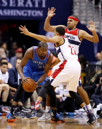 Kevin Durant, John Wall, Jared Dudley