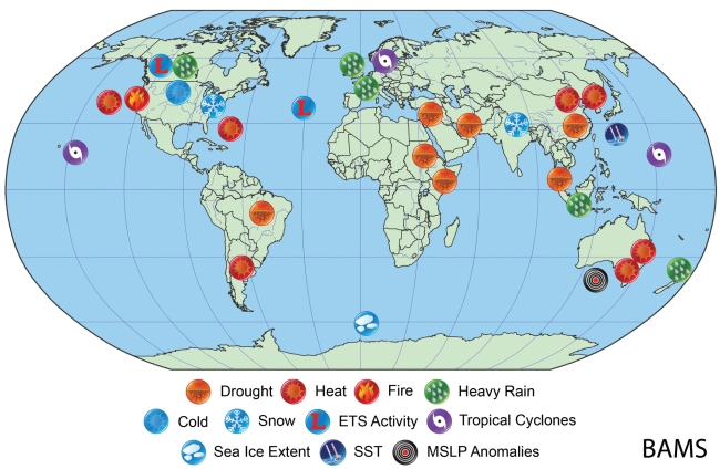 Extreme Weather Events 2014 Map