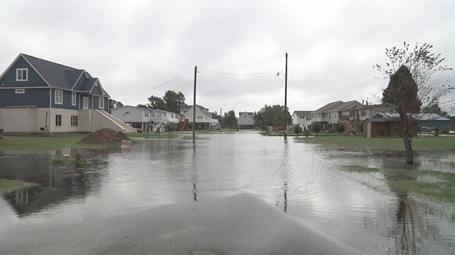 Flooding along Portside Dr. in Chocowinity on October 4, 2015