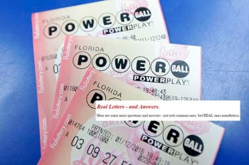 Purchased Powerball lottery tickets are shown Tuesday, Jan. 12, 2016, in Miami. (AP Photo/Alan Diaz)