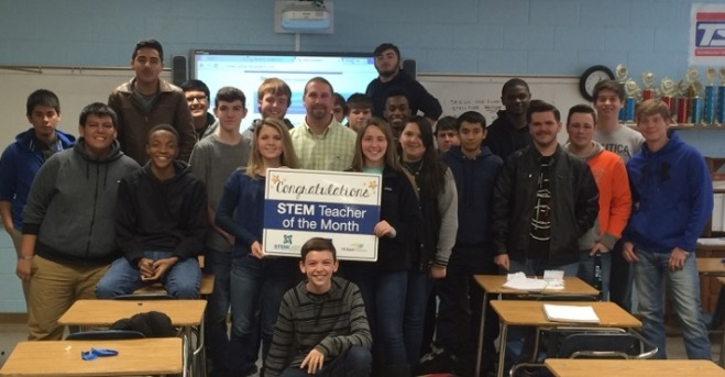 East Duplin High School's Corey Keffer is WNCT's STEM Teacher of the Month.