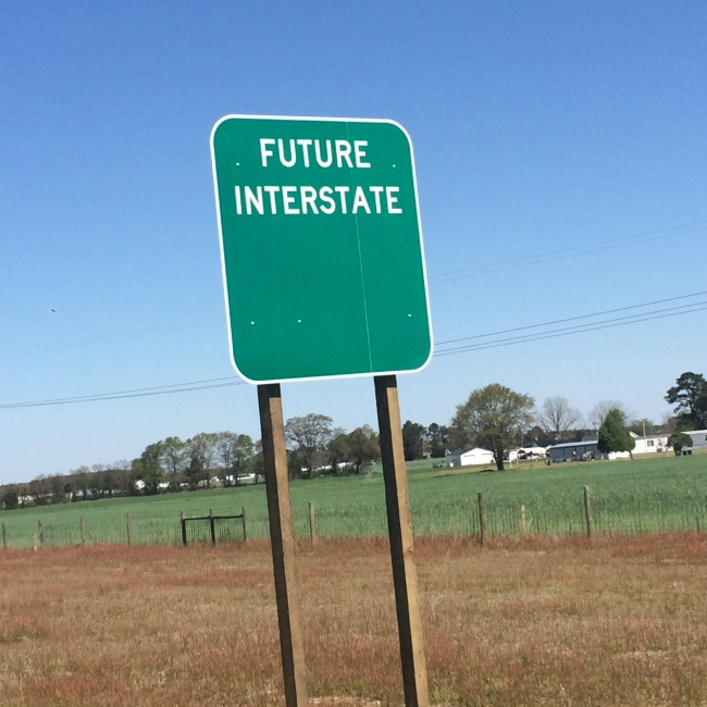 Sign for future U.S. 70 interstate unveiled in Goldsboro
