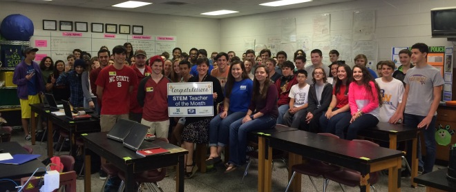 Richland High School's Lila Hackett is WNCT's STEM Teacher of the Month