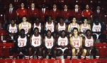 The 1982-83 title-winning Wolfpack team, coached by Jim Valvano. (NC State Athletics)