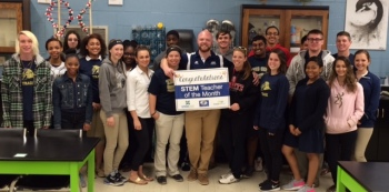 Jones Senior High School's Tyler French is WNCT's STEM Teacher of the Month.