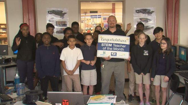 Aycock Middle School teacher Daniel Lewis-Niece is WNCT's STEM Teacher of the Month