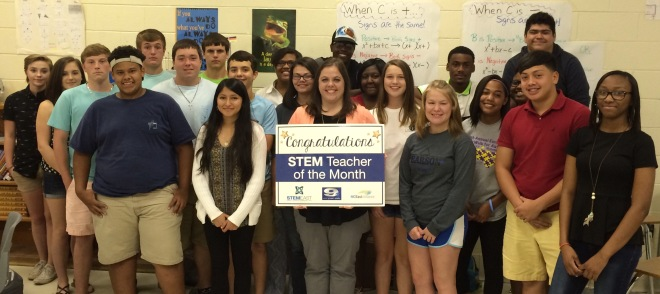 Greene Central High School's Rebecca Burris is WNCT's STEM Teacher of the Month.