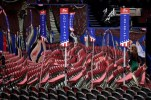 Preparations take place at Quicken Loans Arena for the Republican National Convention, Sunday, July 17, 2016, in Cleveland. (AP Photo/John Locher)