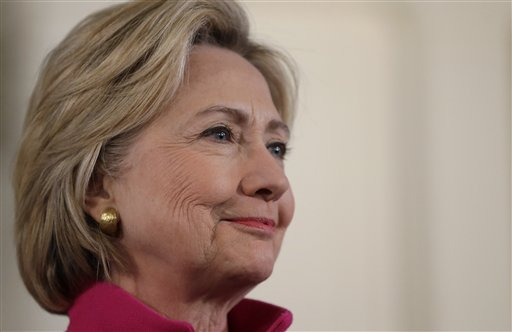 Presumed Democratic presidential candidate Hillary Clinton listens during a town hall style campaign event, Tuesday, Dec. 29, 2015, at South Church in Portsmouth, New Hampshire. (AP file)