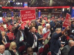 Donald Trump supporters cheer speakers at the 2016 Republican National Convention in Cleveland. (Photo: Chance Seales)
