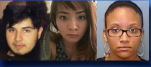 From left to right: 17-year-old Alex Castillo, 23-year-old Sandy Le and 19-year-old Ahmia Feaster. (Photos courtesy Charlotte-Mecklenburg Police)