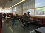 Students at West Carteret High School sponsored a blood drive Friday.