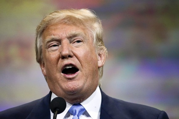 Trump announced June 16, 2015 he will run in the Republican presidential primary.  (AP Photo)