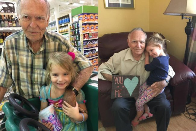 Norah and Mr. Dan met by chance at a grocery store in Georgia on Sept. 28, 2016. (Courtesy: Facebook.com/TaraWoodWriter)