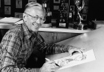 Cartoonist Charles Schulz, shown in a 1978 file photo, created the iconic Peanuts comic strip. The original strip ran in American newspapers from October 1950 to February 13, 2000, one day after Schulz's death. It remains widely syndicated today. (AP file)