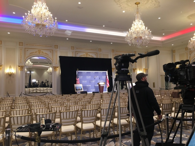 Donald Trump is scheduled to hold a media event inside his latest business venture - a hotel in Washington D.C. (Mark Meredith / Media General)