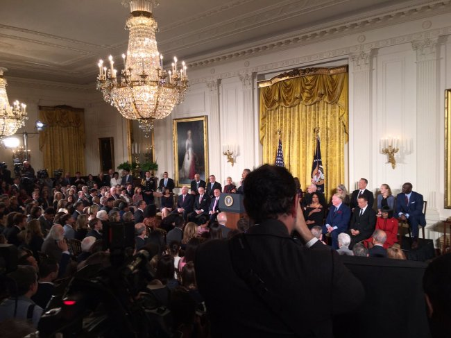 President Obama awarded 21 people the nation's highest civilian honor during a ceremony at the White House on Tuesday (Mark Meredith, Media General)
