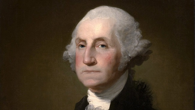 Portrait of President George Washington by Gilbert Stuart Williamstown (Public Domain)