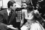 "Jimmy Stewart explains things to Donna Reed in ""It's a Wonderful Life"" 1946. (AP file)"