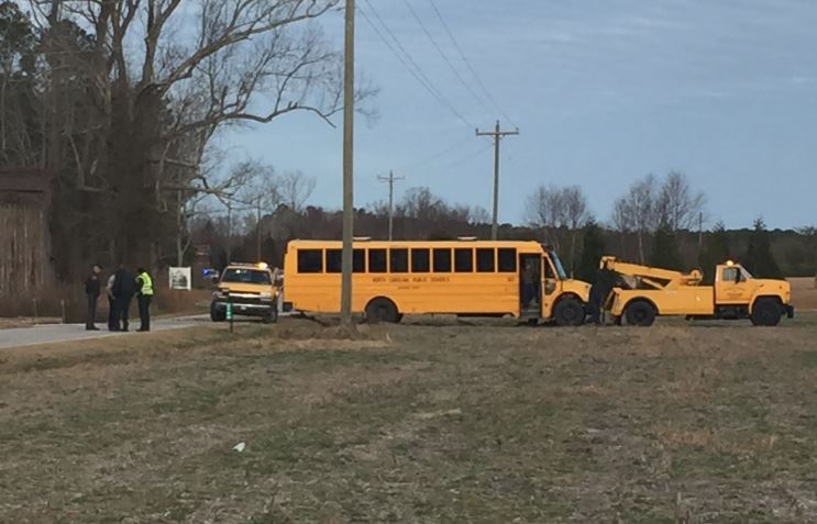 Several kids transported to hospital following Edgecombe County school bus crash