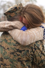 U.S. Marine Corps Cpl. McManus proposes to girlfriend after returning from a deployment with the 22nd Marine Expeditionary Unit (MEU) Dec. 20, 2016.
