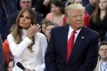 """Donald Trump and his wife Melania Trump appear on the NBC """"Today"""" television program, in New York Thursday, April 21, 2016. (AP Photo/Richard Drew)"""