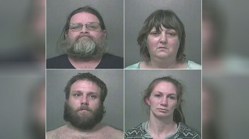 Clockwise from upper left: Hubert Kraemer, Robin Kraemer, Chad Kraemer and Sarah Travioli (Vigo County Sheriff's Office)