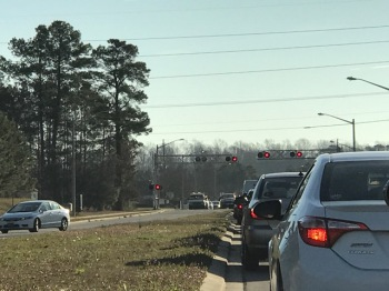 Regency Blvd. traffic backup (2/20/17)