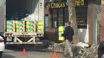 A raid conducted at a vacant storefront in Providence, Rhode Island, Feb. 16, 2017 turned out to be connected to the theft of $90,000 worth of diapers. (WPRI)