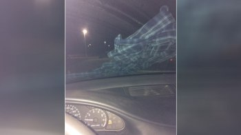 Ashley Hardacre, 19, found a flannel shirt on the windshield of her car outside the mall where she works in Flint, Michigan, on Feb. 16, 2017. (Facebook/Ashley Hardacre)