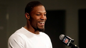 Arizona Cardinals running back David Johnson, shown in a 2016 file photo, is doing just fine as he rehabilitates his knee. (AP file)